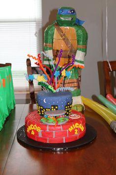 TMNT Cake Teenage Mutant Ninja Turtle Cake for Dual Party