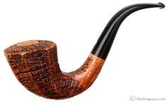 Ser Jacopo Sandblasted Paneled Bent Dublin (S2) (Maxima) Pipes at Smoking Pipes .com