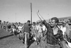 South African youngsters saying goodbye. National conscripts on their way to a military base for the beginning of hell - basic training. 9 months later they will be ready for battle