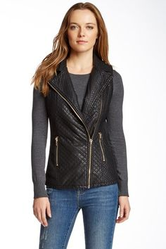 Quilted Faux Leather Vest by Love Token on @HauteLook