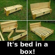 Decorate your room in a new style with murphy bed plans Wood Pallet Beds, Pallet Furniture, Furniture Projects, Rustic Furniture, Wood Pallets, Home Projects, Luxury Furniture, Antique Furniture, Furniture Design