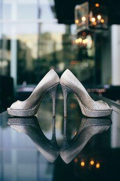 wedding photography: very cool shot of wedding shoes...