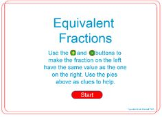 Manipulate fractions to create equivalence