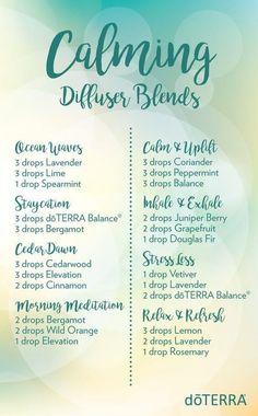 doTERRA Essential Oils Calming Diffuser Blends