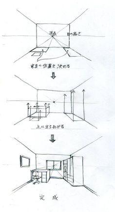 スケッチの練習 l 手描きパースの描き方ブログ、パース講座(手書きパース)