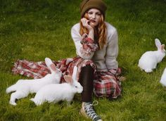 yep I'd like to kick it with bunny's and a flannel skirt in a field!....and still look this cute.