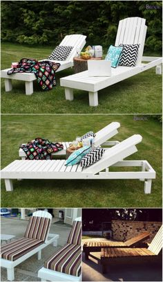 5 Elegant Sunbathing Loungers You Can DIY U2013 FREE Plans. Outdoor Projects Outdoor IdeasWood ProjectsOutdoor SpacesLounge FurnitureOutdoor ...