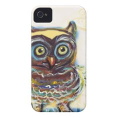 whimsical cute baby owl iPhone 4 Case-Mate case