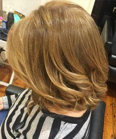 Bronde balayage colour melt lob hair
