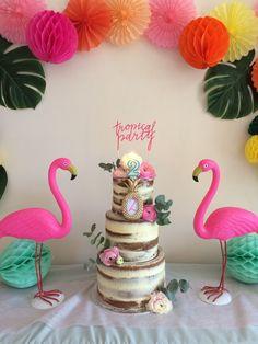 Flamingo Party, Flamingo Baby Shower, Flamingo Cake, Flamingo Birthday, Luau Birthday, Summer Birthday, Birthday Parties, Aloha Party, Luau Party