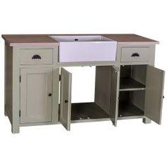 meuble sous vier 2 tiroirs 4 portes plateau chne rocamadour c
