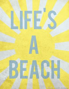 Free Life's a Beach Printable by Ninth Street Notions