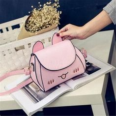 NewChic - NewChic Women PU Leather Cat Crossbody Bag Cartoon Cute Bag Phone Bag - AdoreWe.com