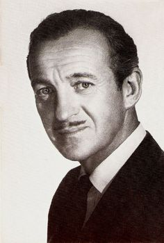 David Niven - a very English Hollywood star! Very Classy Hollywood Men, Hooray For Hollywood, Hollywood Icons, Golden Age Of Hollywood, Vintage Hollywood, Hollywood Stars, Classic Hollywood, Iconic Movies, Old Movies