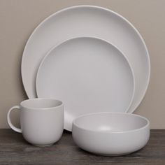 @Overstock.com - Royal Doulton Mode Putty 4-piece Place Setting - This Royal Doulton 'Mode Collection' place setting features clean lines and neutral colors creating understated style. This 4-piece place setting is crafted of earthy porcelain that adds simple elegance to any table.  http://www.overstock.com/Home-Garden/Royal-Doulton-Mode-Putty-4-piece-Place-Setting/7440829/product.html?CID=214117 CAD              53.05
