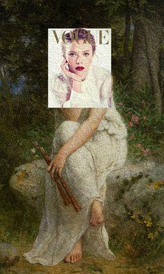Des couvertures de magazines sur des peintures classiques couverture magazine mode peinture celebre 20