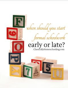 Should formal learning start early or late?