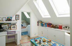 Tetőtéri gyerekszobák - lakberendezési ötletek