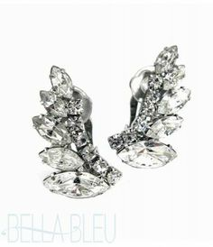 bellableubridal.com  -  Ti Adoro-Art Deco Rhinestone Stud Earrings $120