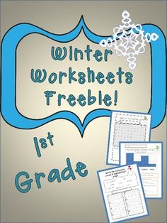 Winter Worksheet Freebie! - Learning 4 Keeps - TeachersPayTeachers.com