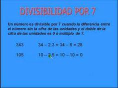 Resultado de imagen para reglas de divisibilidad