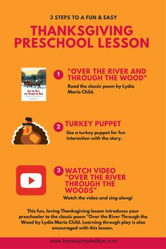 | Over the River and Through the Wood: Preschool Thanksgiving Lesson | http://homeschooledition.com