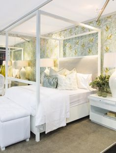Slinx Interiors bedroom setting in the Belgotex Trend House at Decorex Durban 2014