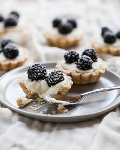 Blackberry Vanilla Bean Tartlets | Gather & Dine