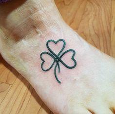 Heart shamrock tattoo by Kris Marley