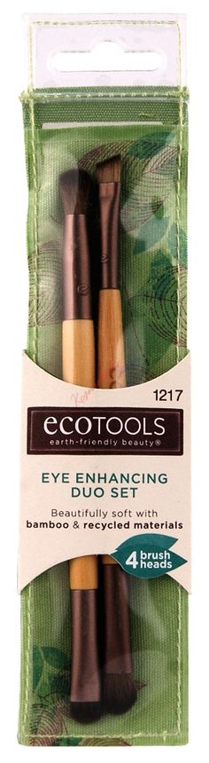 Ecotools Eye Enhancing Duo Set Zestaw Dwustronnych Pędzli Do Makijażu 1217