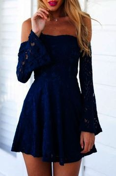 f09ad42523e 47 Dress Outfit You Try This Winter Fall 2017 - Style Spacez MissMay Women s  Vintage Floral Lace Long Sleeve Boat Neck Cocktail Formal Swing Dress dress  ...