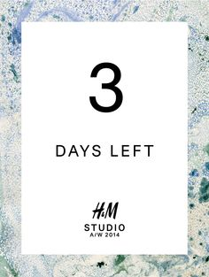 The countdown to #HMStudioAW14 fashion show at #PFW has officially begun.