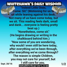 Hey Little Hawks, One answer to all your questions!! Time will only tell on this one.  #intuition #intuitive #nativeamerican #spirituality 1/2