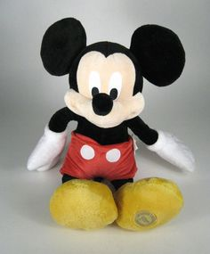 NEW Disney Mickey Mouse Plush Toy 17 Inches Tall NWT Red  #Disney