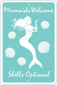 Mermaids Welcome Tin Sign Tin Sign at AllPosters.com