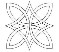 Celtic knots--- I like this simple design Celtic Quilt, Celtic Symbols, Celtic Art, Celtic Knots, Embroidery Patterns, Quilt Patterns, Culture Art, Celtic Knot Designs, Celtic Patterns