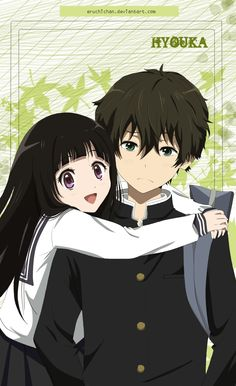 Want to discover art related to hyouka? Check out inspiring examples of hyouka artwork on DeviantArt, and get inspired by our community of talented artists. Anime Couples Hugging, Anime Couples Manga, Cute Anime Couples, Kawaii Anime, Anime Manga, Chibi, Anime Love Couple, I Love Anime, Couple Art