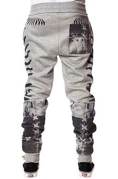 Mens Big and Tall Jogger Pant Raccoon Rock Sweatpants with Side Pockets