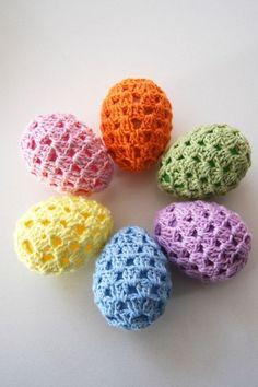 Thread Crochet, Crochet Crafts, Crochet Yarn, Yarn Crafts, Crochet Flowers, Crochet Projects, Free Crochet, Easter Projects, Easter Crafts