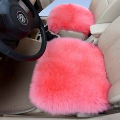 And appease your sore ass with a fluffy pink car seat. | 36 Ways To Make Your Car So Awesome You'll Never Want To Leave It