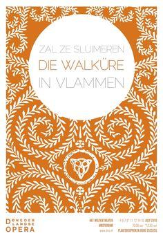 Die Walküre opera poster by Christian Ort for the De Nederlandse Opera, Amsterdam