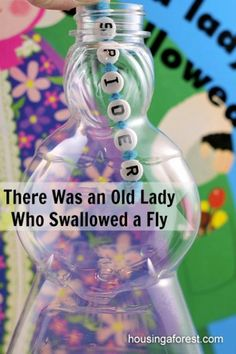 There Was an Old Lady Who Swallowed a Fly ~ fun learning activity.  Fine motor, sequencing, early reading and spelling all rolled into one!