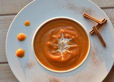 Velouté de courge et patate douce aux épices de Noël