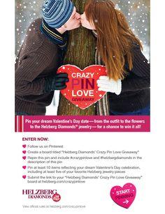 Helzberg Diamonds' Crazy Pin Love Giveaway Feb 2013