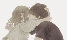 Image about love in anime/manga couple 😍 by Lintang Kinanti Anime Couple Kiss, Couple Manga, Anime Couples Manga, Cute Anime Couples, Anime Guys, Manga Anime, Anime Love, Manga Love, Image Couple