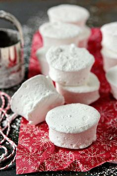 Homemade marshmallows are the perfect accompaniment to a mug of hot chocolate.