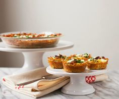 Kale and Bacon Quiches with Hash Brown Crust, make sure you use nitrate-free bacon