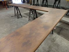 Bull Nose Aged Copper Bar Top