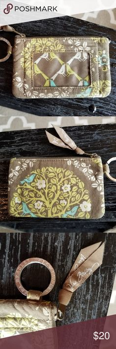Vera Bradley coin purse wallet brown/ blue/ green Vera Bradley coin purse wallet brown/ blue/ green. The design reminds me of a partridge bird and is absolutely lovely. For any and all occasion, this can be an everyday use. Vera Bradley Bags Wallets
