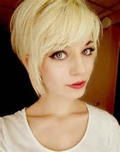 Blonde Pixie Haircuts with Side Long Bangs